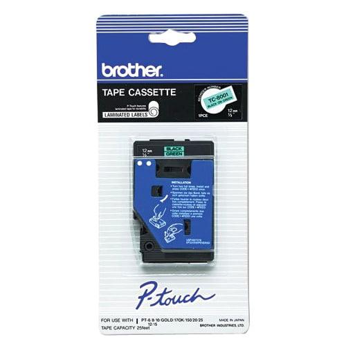 Brother TC8001 1Pk 1/2 Black On Green