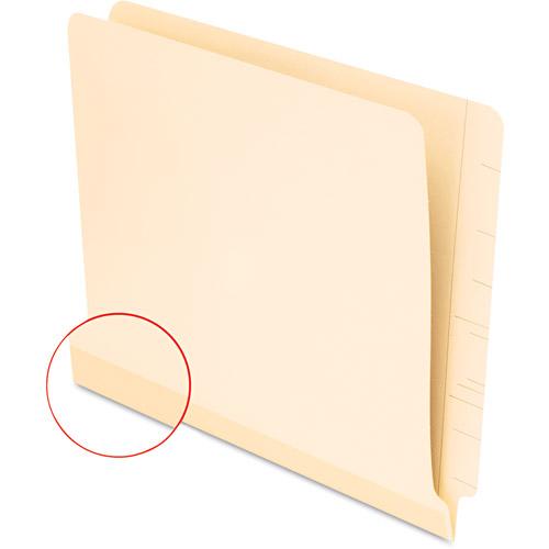 Pendaflex Laminate Shelf File Folder, Straight Cut, End Tab, Letter, 100/Box, Manila