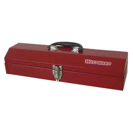 Little Red Tool Box - Westward Portable Tool Box, Polypropylene, Steel, Red, 36Y010