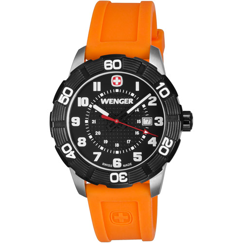 Wenger Roadster Black Dial Orange Strap