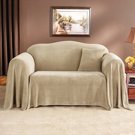 mainstays plush loveseat furniture throw. Black Bedroom Furniture Sets. Home Design Ideas