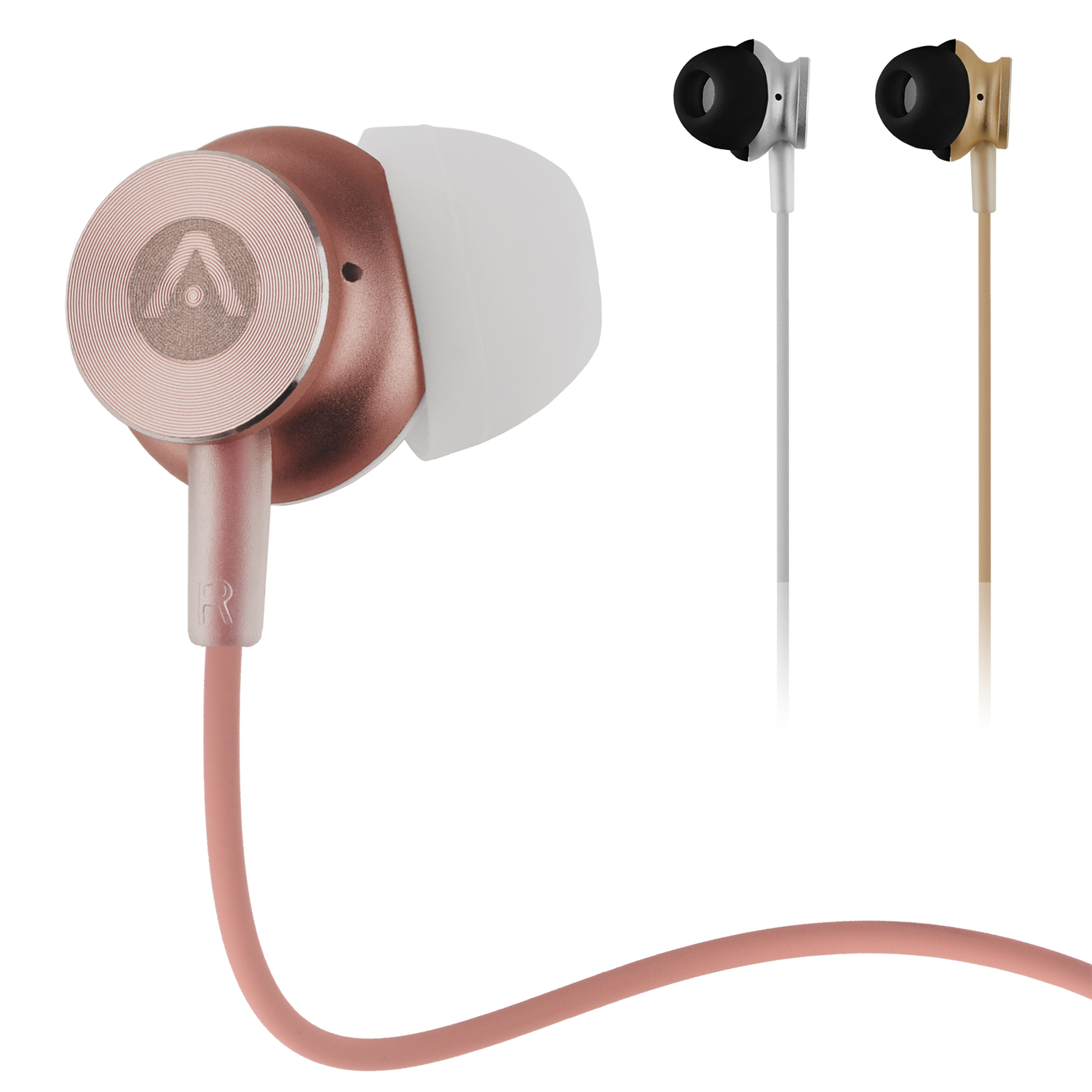 Audiomate A180 Dynamic Hi-Fi Stereo Metal 3.5mm Earphone Earbuds for iPhone, Android