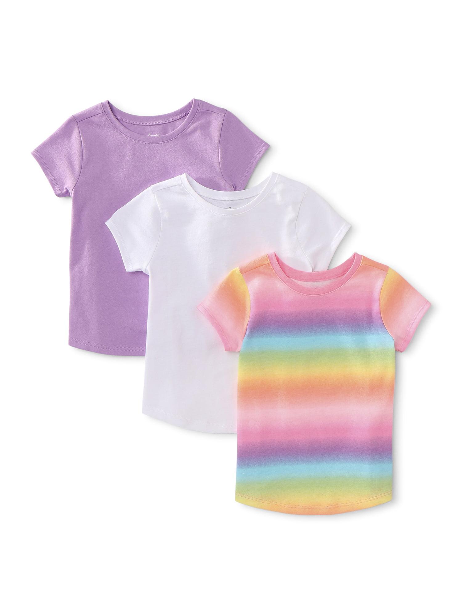 Danskin T-shirt sz 7-8 /& 10-12 Train Hard Teal Orange Pink Girls