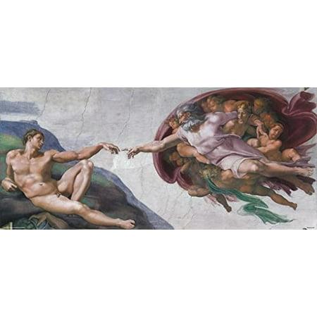 Creation Of Adam Poster Michelangelo Vatican Sistine Chapel New 16x36