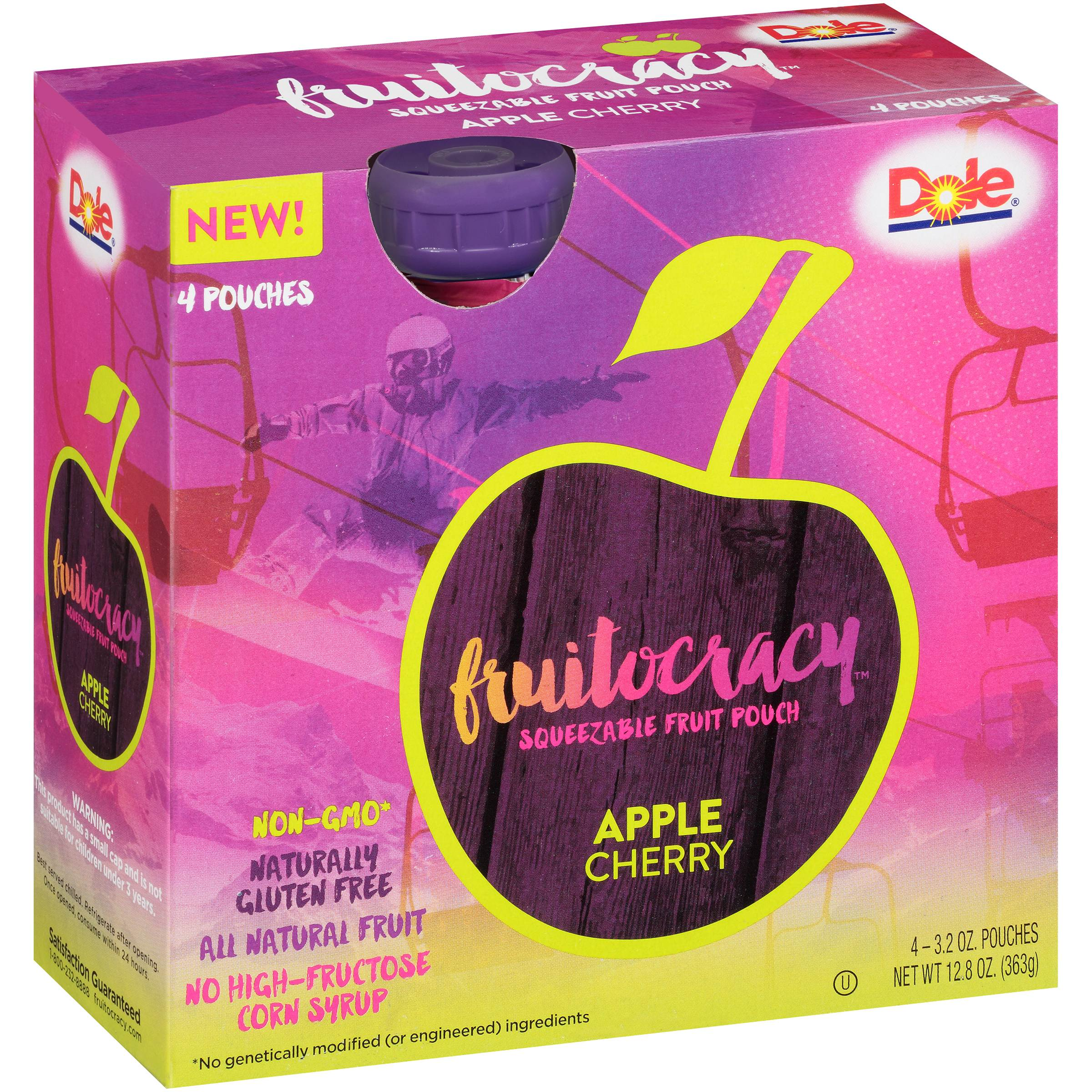 Dole® Fruitocracy™ Apple Cherry Squeezable Fruit 4-3.2 oz. Pouches