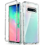 Galaxy S10+ Plus Case, ULAK Heavy Duty Shockproof Rugged Drop Protection Case Transparent Soft TPU Protective Cover for Samsung Galaxy S10+ Plus 6.4 inch, Crystal Clear