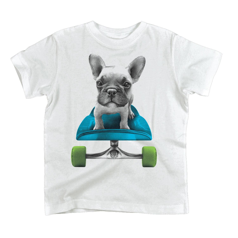 Funny Dog T-Shirt French Bulldog Skateboarder Men/'s Vest Tank Top