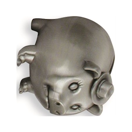- Pig Wearing Cowboy Hat Metal Bank Designer Jewelry by Sweet Pea
