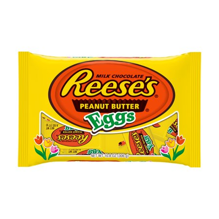 Reese's, Easter Milk Chocolate Peanut Butter Eggs Candy, 10.8 - Milk Chocolate Easter Egg