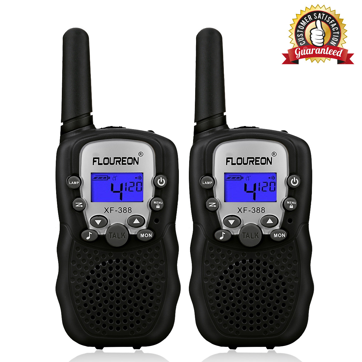 Kids Walkie Talkies, FLOUREON 22 Channel Two-Way Radio Best for Kids Long Range 3000M Handheld Outdoor Interphone/Portable Toy Radio Transceiver(2 Packs)