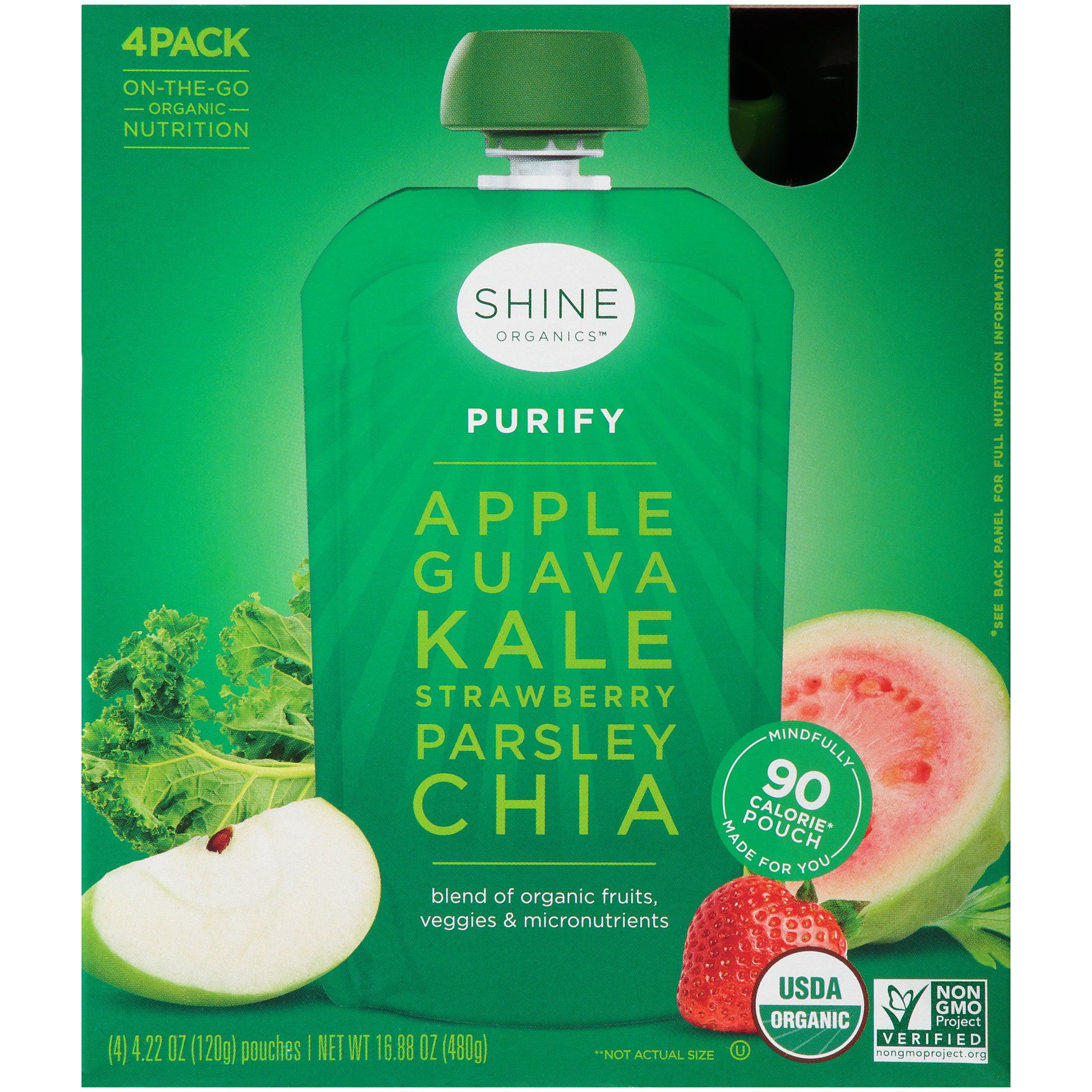 Shine Organic Purify Organic Snack 4-4.22 oz. Pouches