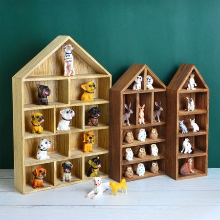 Rebrilliant Hay House Shaped Wooden Shadow Cubby Box 3 Piece