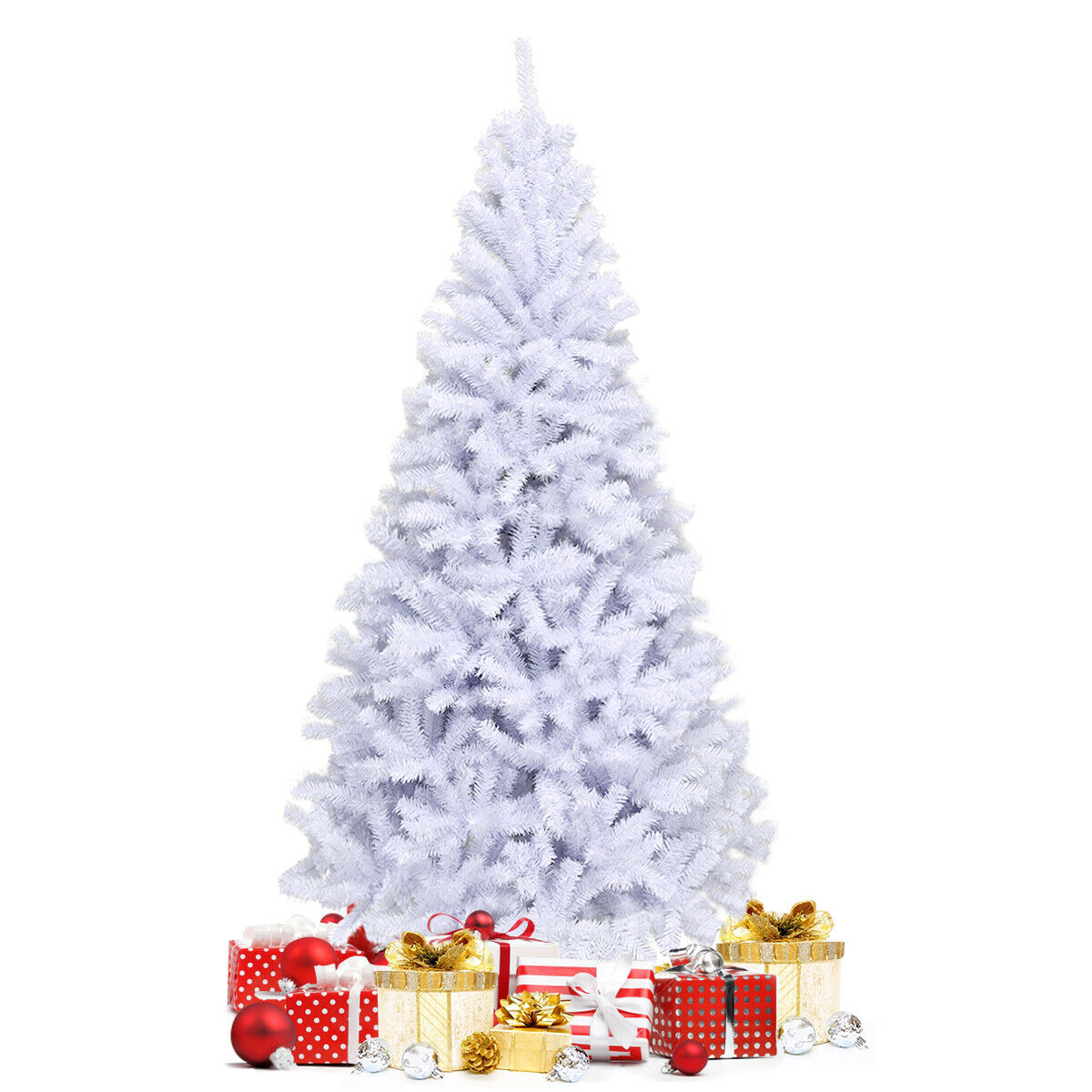 Gymax 6ft 7 5ft 9ft White Christmas Tree Clic Pine
