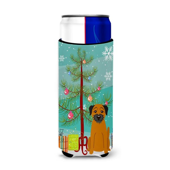 Merry Christmas Tree Border Terrier Michelob Ultra Hugger for Slim Cans - image 1 of 1