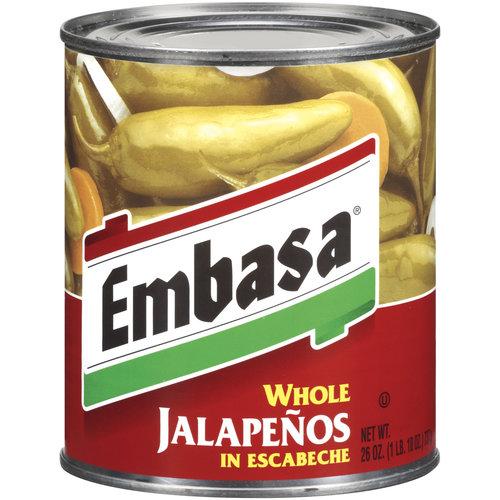 Embasa Whole Jalapenos In Escabeche, 26 oz