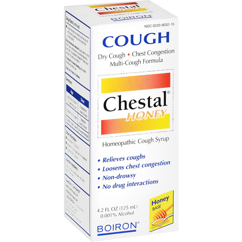 Boiron - Chestal Honey Homeopathic Cough Syrup - 4.2 oz.
