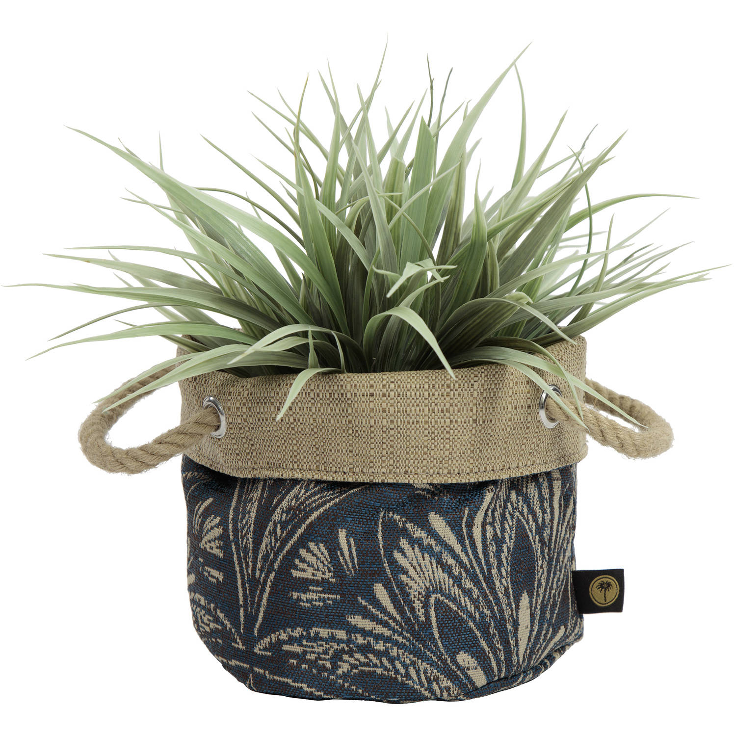 Bombay Outdoors 6 Nahla Fabric Floor Planter In Royal Zanzibar