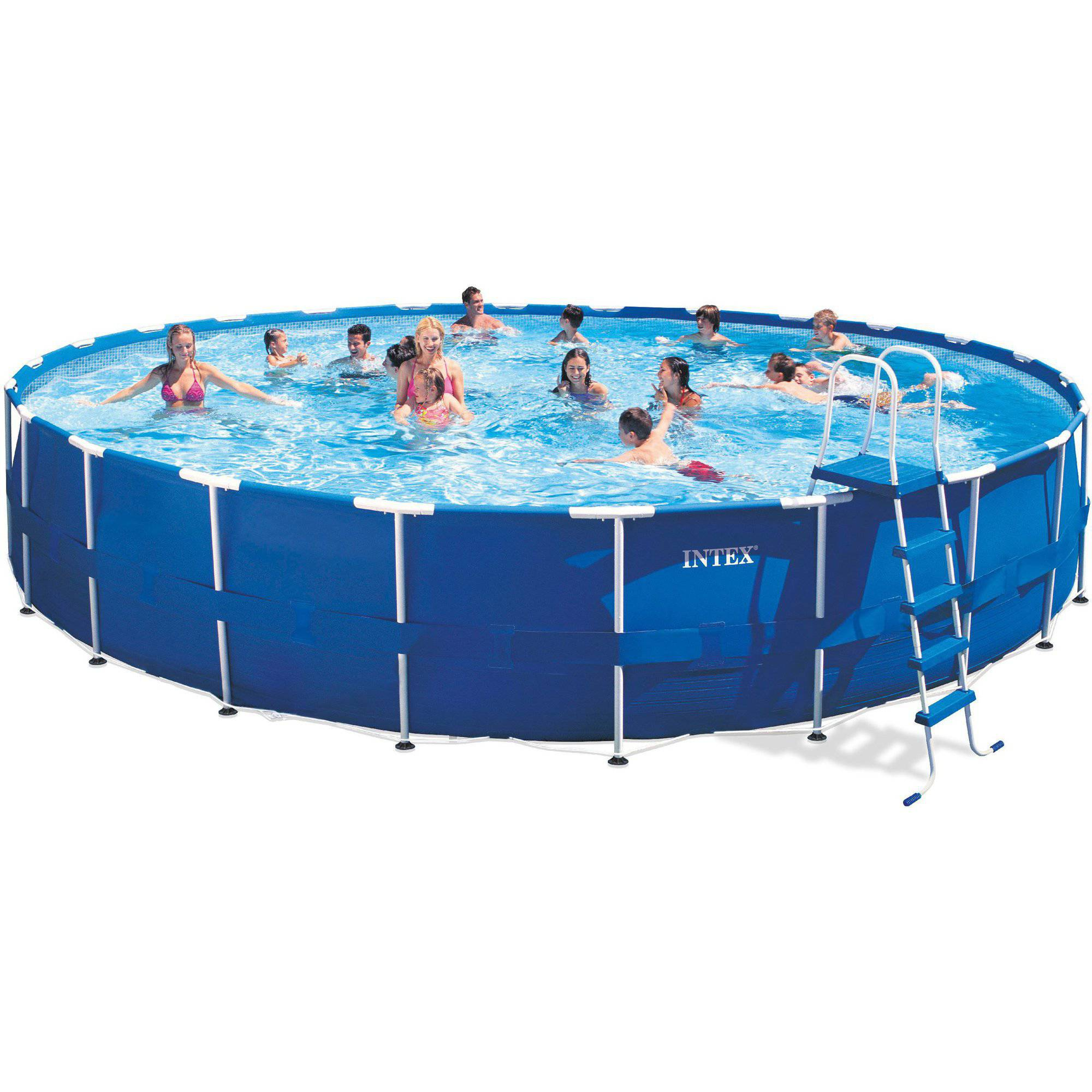 intex 24 x 52 metal frame above ground swimming pool with filter pump walmartcom