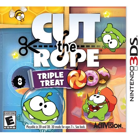 Cut The Rope: Triple Treat - Nintendo 3DS, Games include Cut the Rope, Cut the Rope: Experiments, and Cut the Rope: Time Travel. By (Cut The Rope Time Travel All Levels)