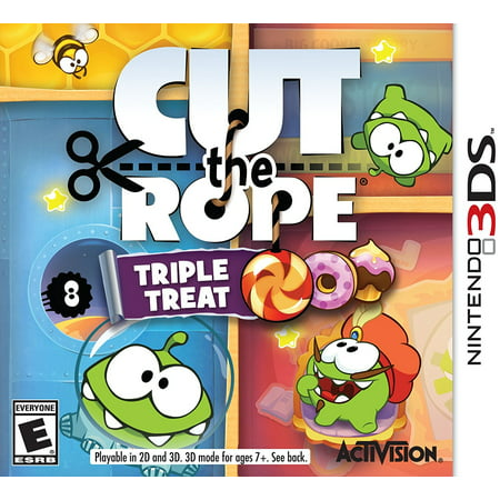 Cut The Rope: Triple Treat - Nintendo 3DS, Games include Cut the Rope, Cut the Rope: Experiments, and Cut the Rope: Time Travel. By