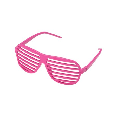 Pink 80's Shutter Shade Toy Novelty Sunglasses Party Favors Costume (80's Costume Philippines)