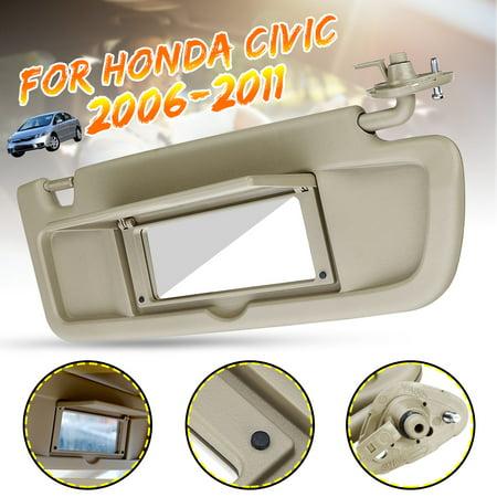 1 Pcs Fit For 2006 2007 2008 Honda Civic Beige Sun visors Sunvisor #Right Passenger Side / Left Driver's Side #NH598L (Driver Side Visor For 2006 Honda Civic)