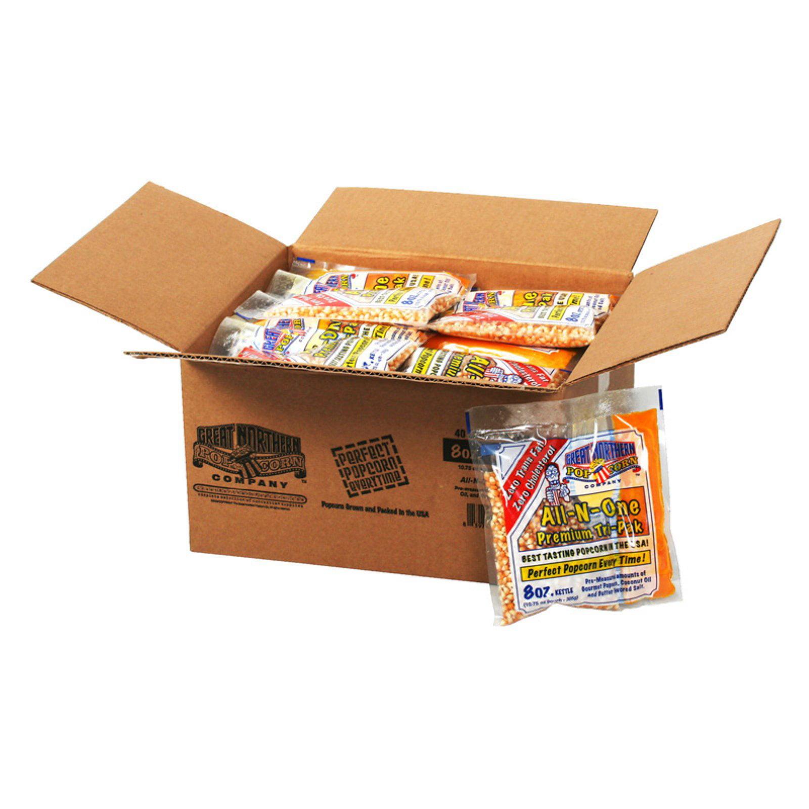 Great Northern Popcorn 8 oz. Popcorn Portion Packs - Case of 40