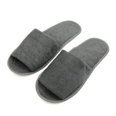Foldable Slippers In A Bag (1 Pair Gray Foldable Disposable Slipper Hotel Spa Guest Slippers for)