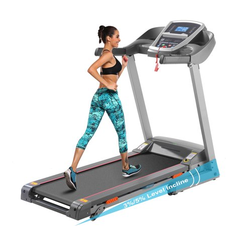 ANCHEER 3.0HP APP Bluetooth Control Incline Electric Folding Treadmill With 3/5% Manual Incline