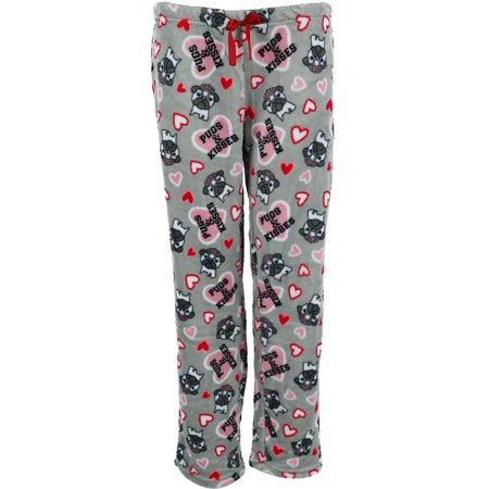 em & alfie  Plush Novelty Pattern Lounge Pajama Pants (Women's)