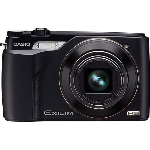 """Casio Exilim EX-FH100 Black 10MP Digital Camera w/ 10x Ultra Wide Zoom, 3.0"""" LCD, 120fps VGA Movie"""