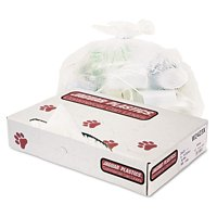 Jaguar Plastics Industrial Strength White Commercial Can Liners, 10 gal, 500 ct