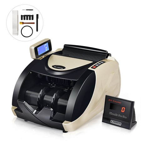 Costway Currency Counter Money Cash Countting Machine Counterfeit Bill Detector UV MG Uv Currency Counter