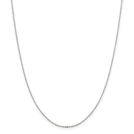 .925 Sterling Silver 1.15 MM Flat Cable Link Chain Necklace, 18