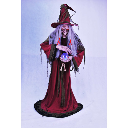 Animated Ultimate Evil Helga Halloween Fortune Teller, 5'6""