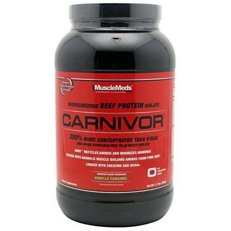 Carnivor Bioengineered Beef Protein Isolate Vanilla Caramel Dietary Supplement Powder, 2.1 lbs