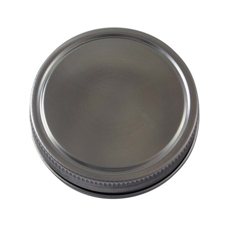 Stainless Steel Storage Lids Caps with Silicone Seals for Mason Jars (5 Pack, Regular Mouth) (Halloween Crafts With Mason Jars)