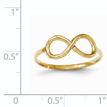 14K Yellow Gold Polished Infinity Ring - image 3 de 3