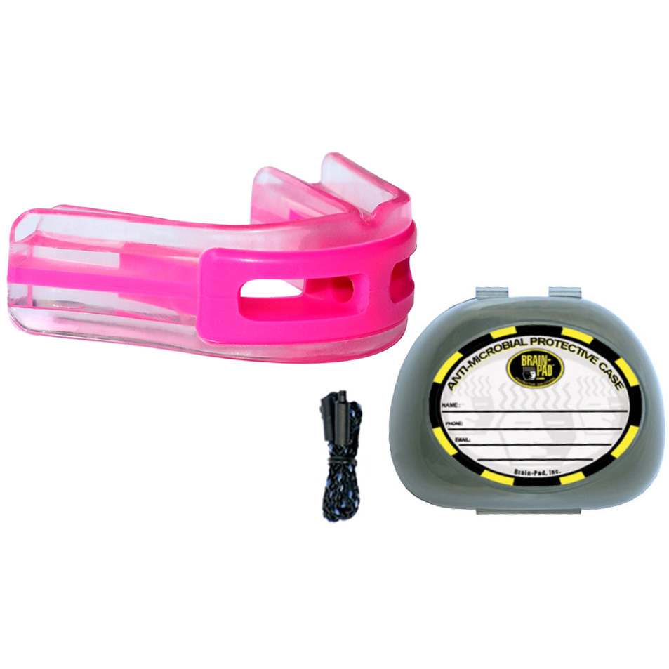 Brain Pad LoPro+ Female Mouthguard - Adult - Pink/Clear