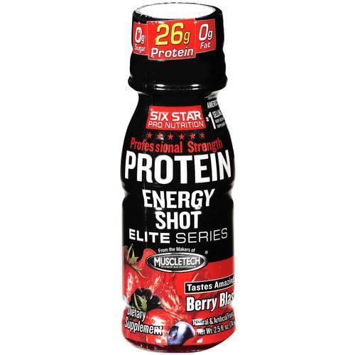 Six Star Pro Nutrition Professional Strength Berry Blast Protein Energy Shot, 2.5 oz