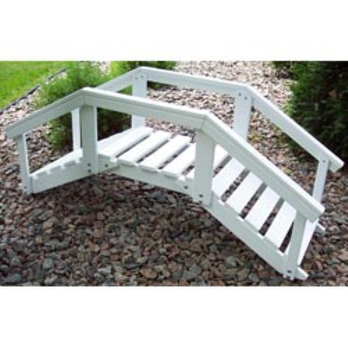 Prairie Leisure Ornamental 4-ft. Single Rail Garden Bridge