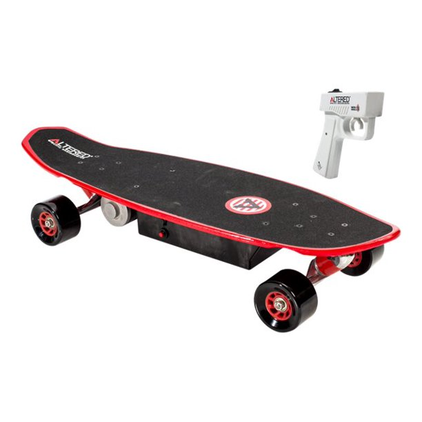 Altered Skateboards Fantom 1.0 - Electric skateboard - 10 mph - black, red, multicolor