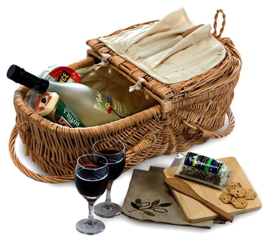 Picnic Plus Eco Natural Wine & Cheese Basket
