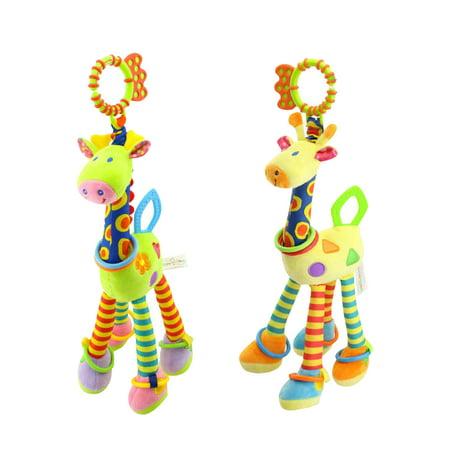 Giraffe Baby Toy - Kids Baby Bed Crib Cot Pram Hanging Giraffe Toy Pendant with Ringing Bell (Random Color)