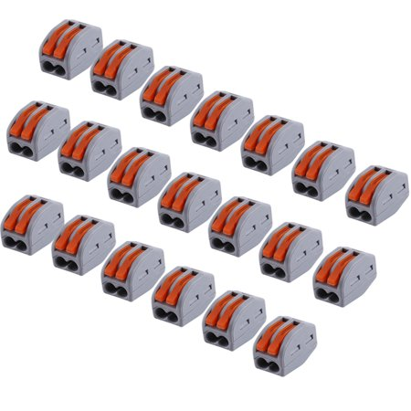 20pcs 2/3/5 Way Reusable Spring Lever Terminal Block Electric Cable  Connector Wire,Terminal Block,Cable Connector