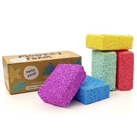 Monkey Foam - 5 Giant Blocks in 5 Great Colors - Perfect for Creative Play