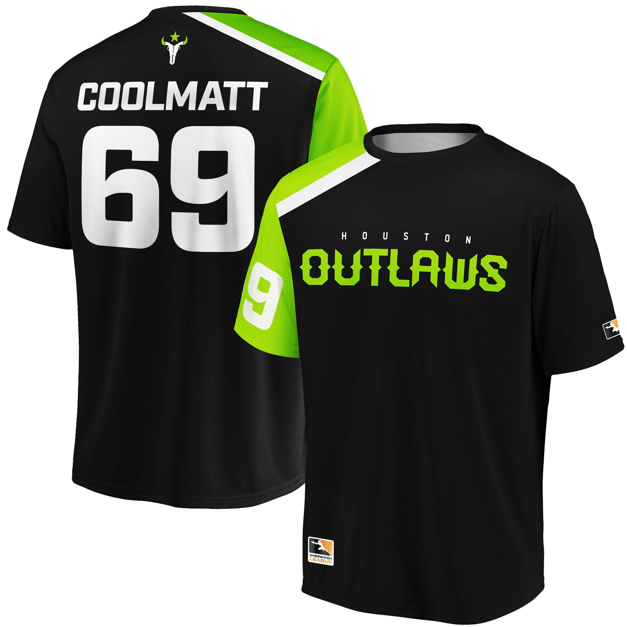 coolmatt Houston Outlaws Overwatch League Replica Home Jersey - Black