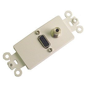 Electronics 28-161-3.5 Nickel Plated High Density DB-15 and 3.5mm Stereo Feed-Thru Jacks, Electronics insert plate Insert Plated Density.., By Calrad Ship from US
