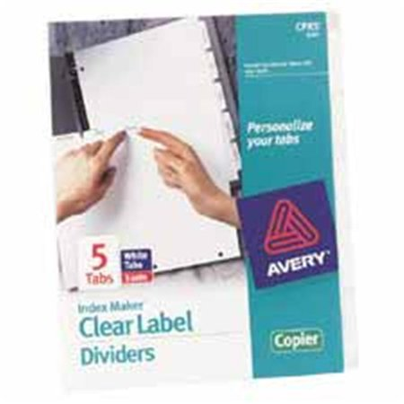 Avery Consumer Products AVE11422 Label Dividers- Punched- Reinforced Edge- 8-Tab- White