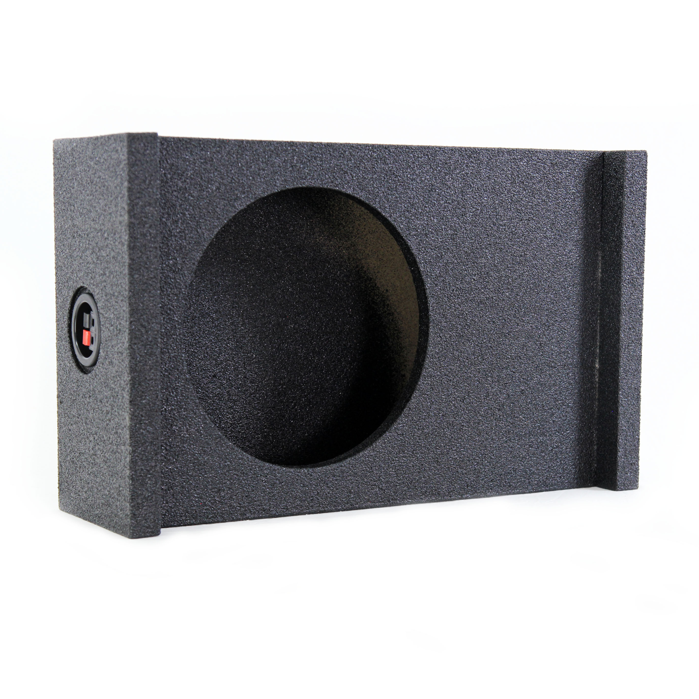 Q-Power Single 10-Inch Universal Downfire/Behind Seat Sub Box | QBSHALLOW10 DF